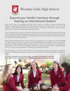 WGHS Homestay Advert